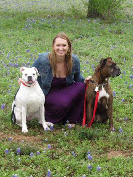 Jessica Sims - Austin is the fifth (and hopefully the last because it's the best) city Jessica has lived in, and with her husband Hunter have thoroughly enjoyed the Texas lifestyle since 2014. At a very young age she became passionate about taking care of animals, and has grown up with dogs in her family her whole life. Rescuing boxers has become a habit in her household, and she volunteers for Austin Boxer Rescue as much as possible.