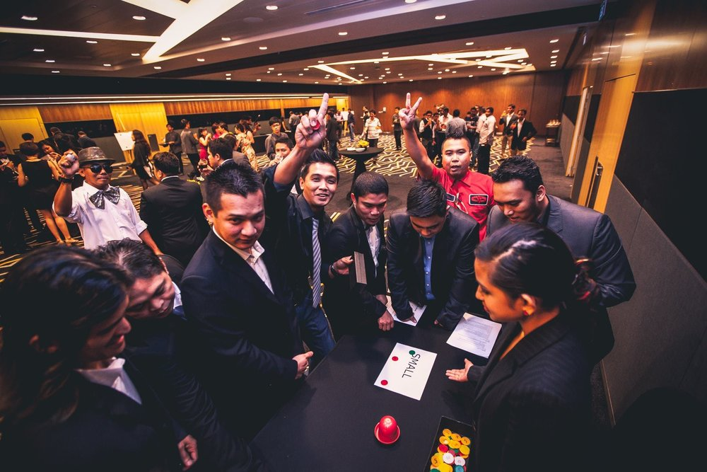 Casino Night - Go big or go home! The Casino Night programme guarantees a night of fun, risk and reward for all your participants!