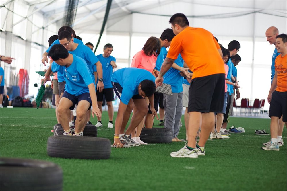 Versagility - Versagility is a high-energy team building activity that has something for everyone. The aim of the team challenges is for each team to earn the most points
