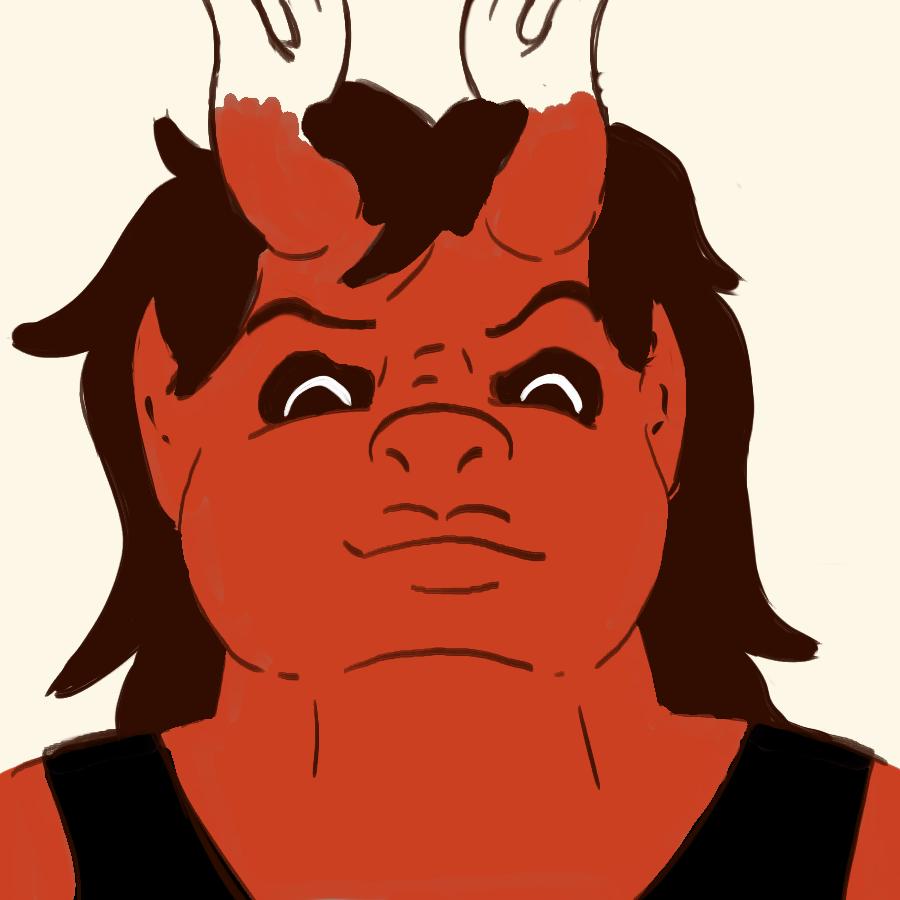 Agnes - she/her - Agnes is a big ol' demon blacksmith (6'8