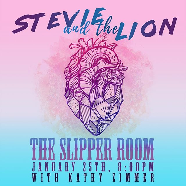 So we bet you thought because Kate moved to North Carolina that you would have to drown yourself in your own tears missing some Stevie and the Lion in your lives.  That's a sad story.  ITS ALSO A FALSE STORY!! STEVIE AND THE LION IS BACK IN ACTION JANUARY 25th, 8pm @ The Slipper Room.  See ya there, Bunnies! 💋💋 #manhattanmusic #brooklynbands #slipperroomnyc