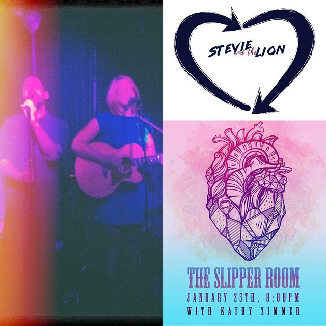 Stevie and the Lion at The Slipper Room, TOMORROW, 8pm!! Don't miss it!! 💋💋