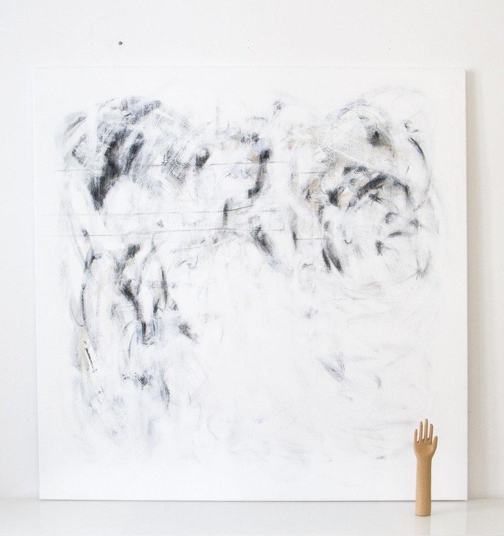 kosket | 028  2016 acrylic on canvas 140 x 140 cm | SOLD