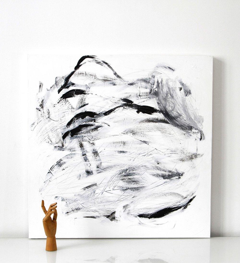 Stream | 003  2014 acrylic on canvas 90 x 90 cm | SOLD