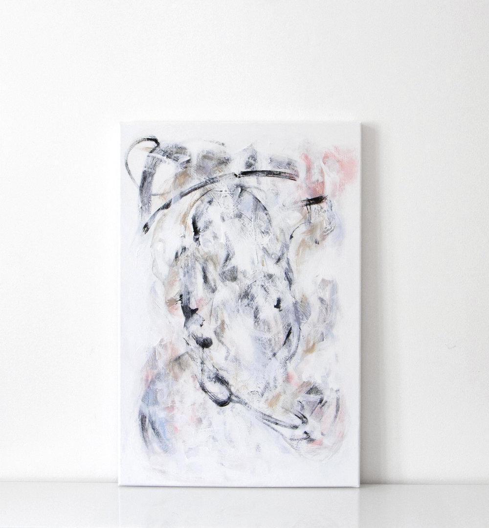 lehvät | 020  2016 acrylic on canvas 60 x 90 cm | SOLD