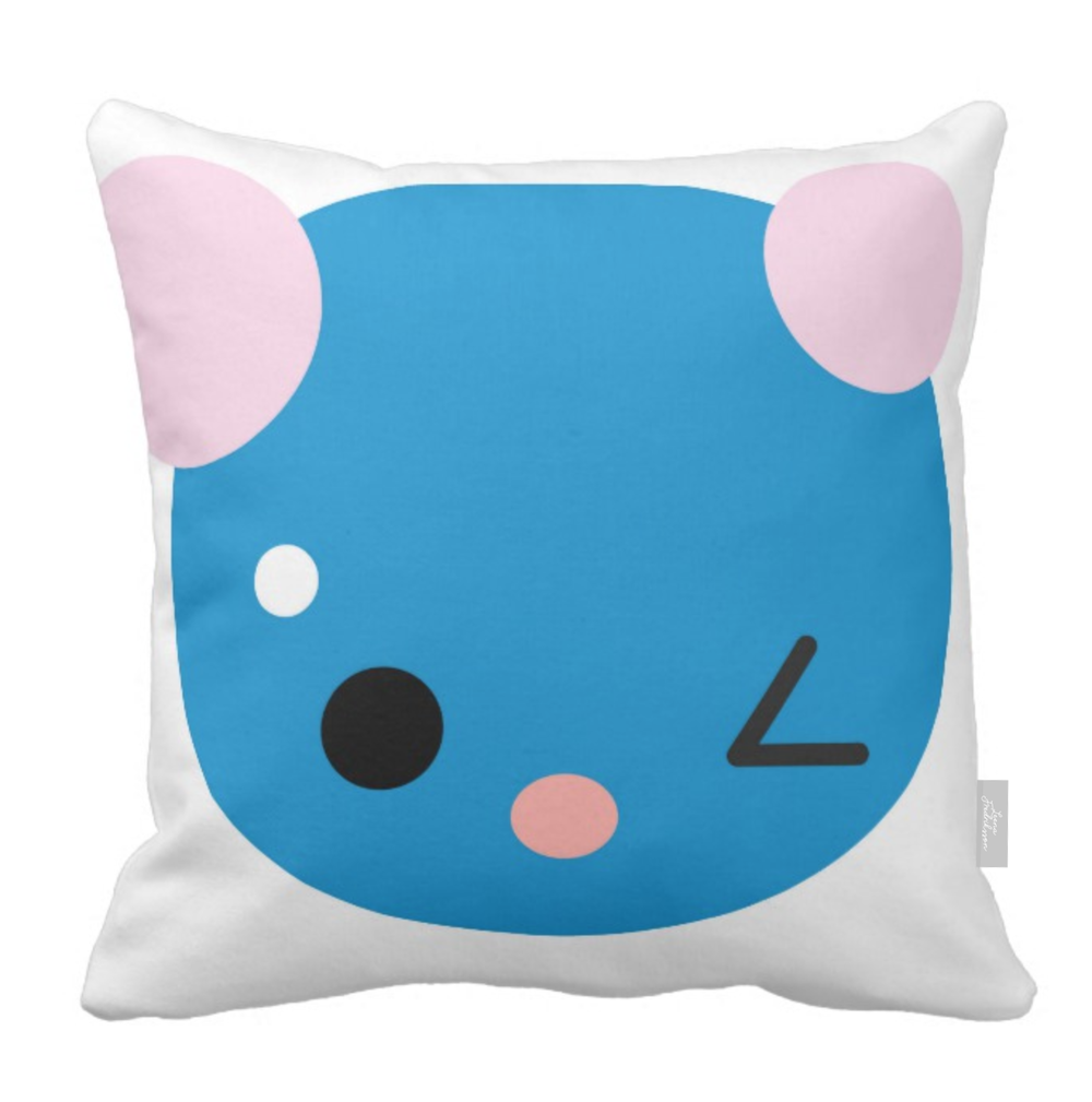 SUPERCUTE pillow,  blue