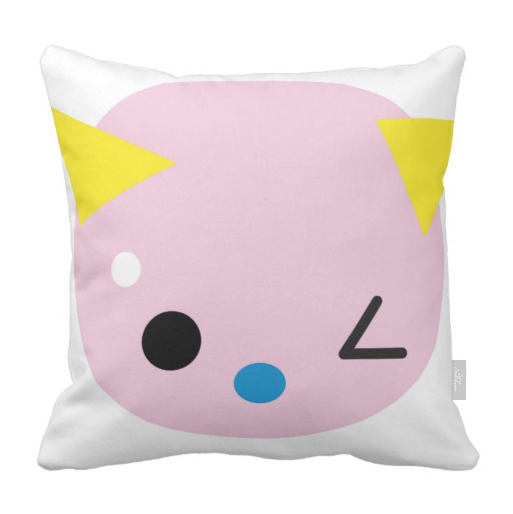 SUPERCUTE pillow,  pink