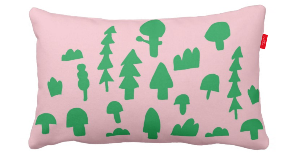 ISLET forest,  pillow, green 2