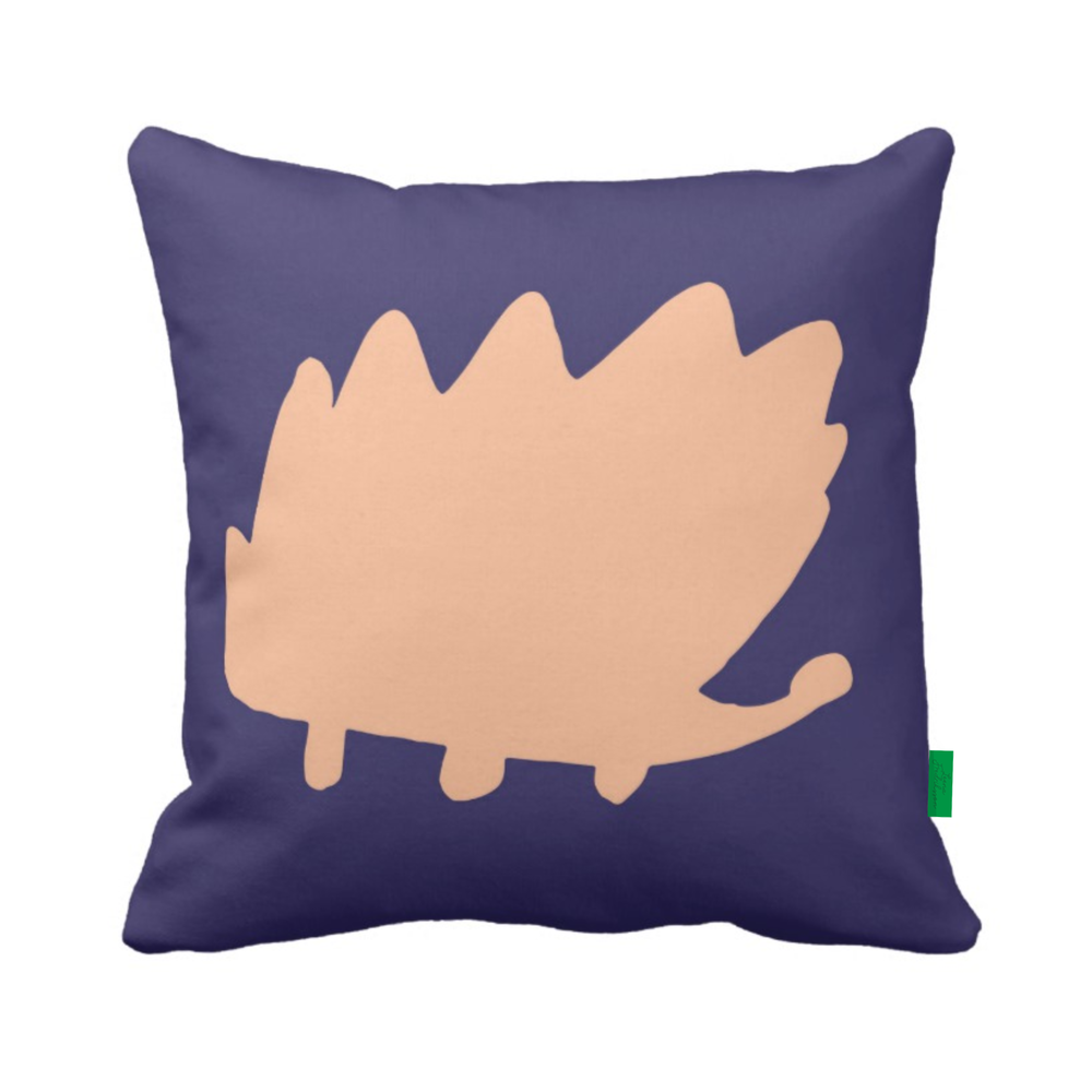 ISLET hedgehog,  pillow, blueberry