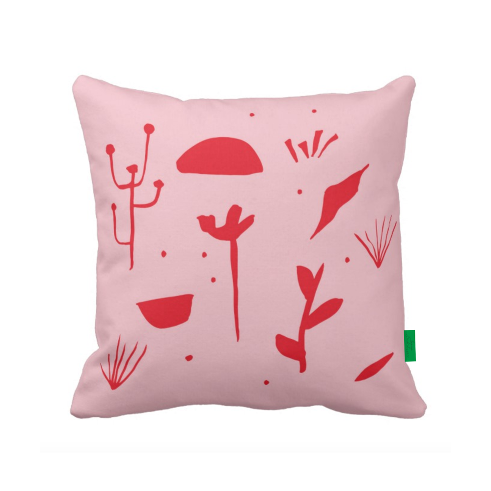 ISLET meadow,  pillow, red