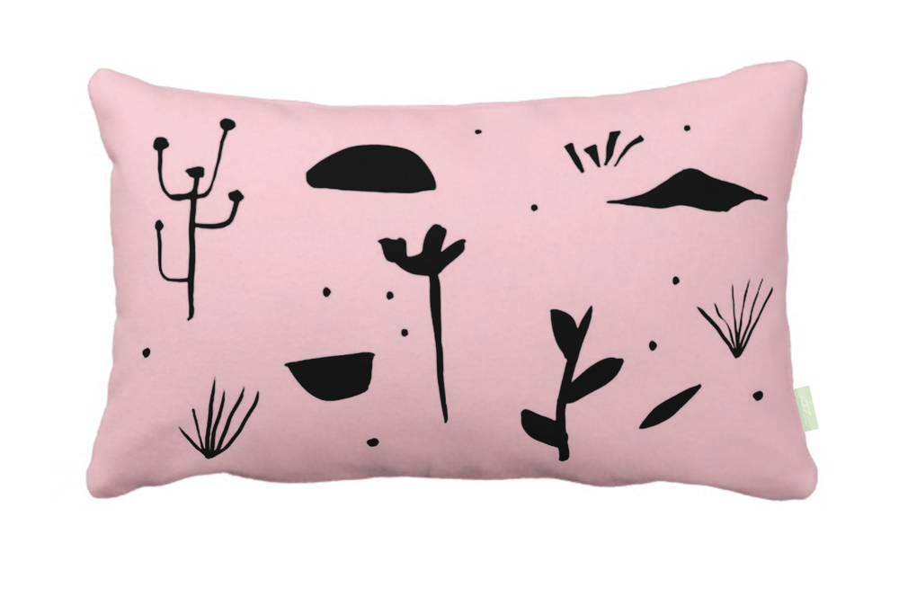 ISLET meadow,  pillow, black