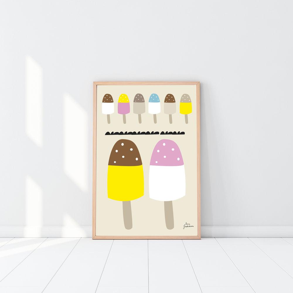 KOTI jäätelöt,  poster