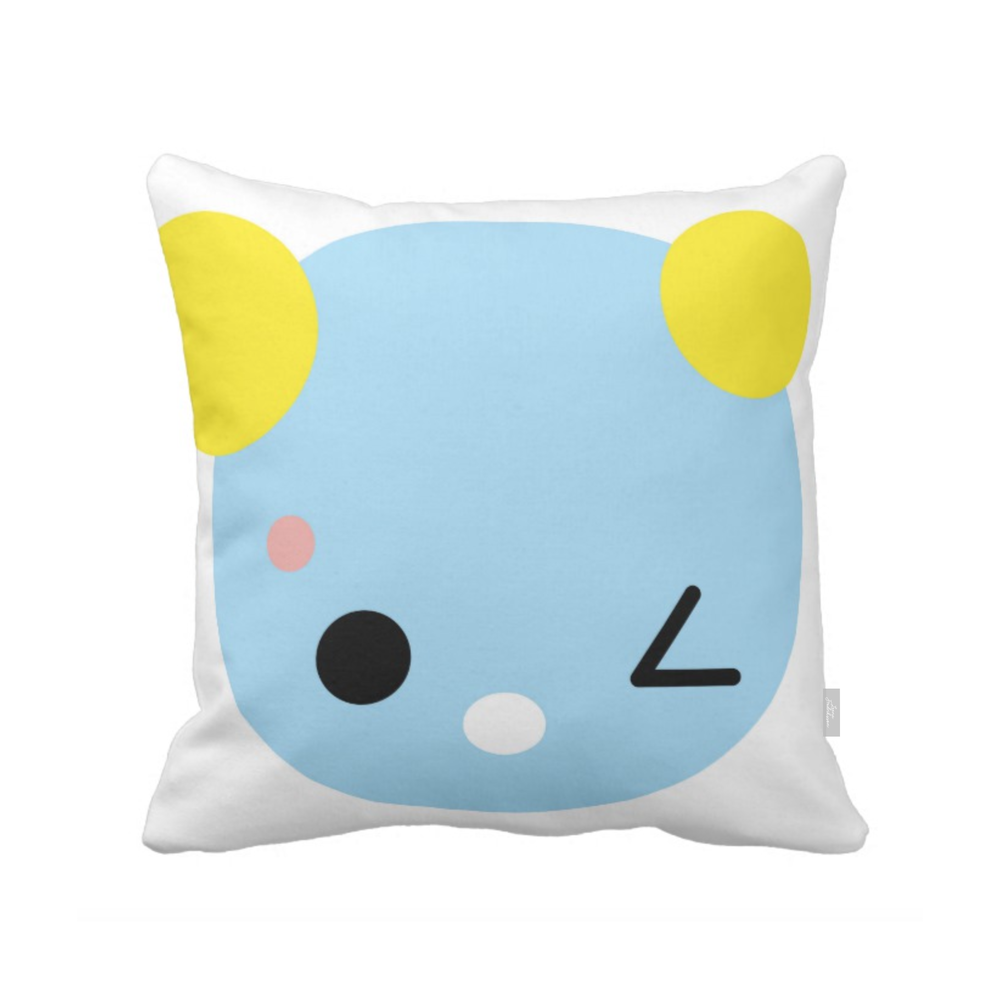SUPERCUTE pillow,  light blue