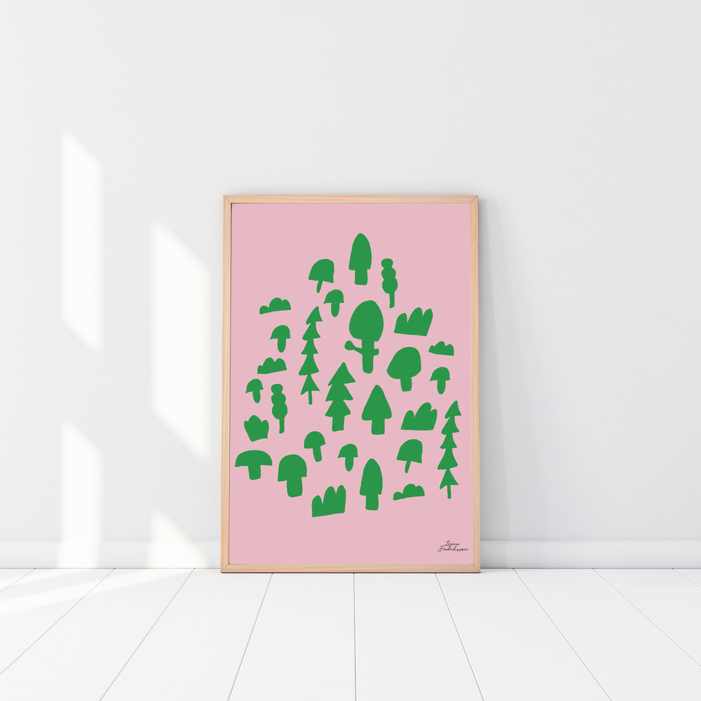 ISLET forest,  poster, green