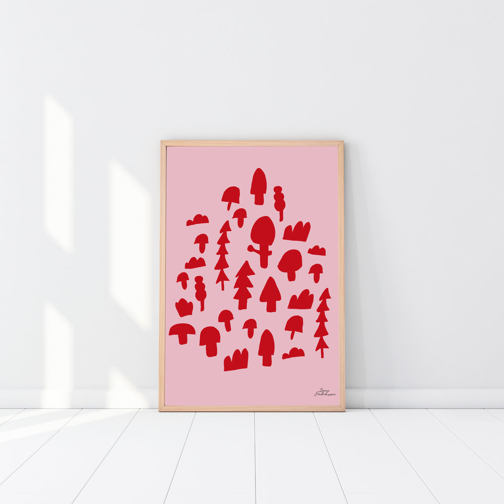 ISLET forest,  poster, red
