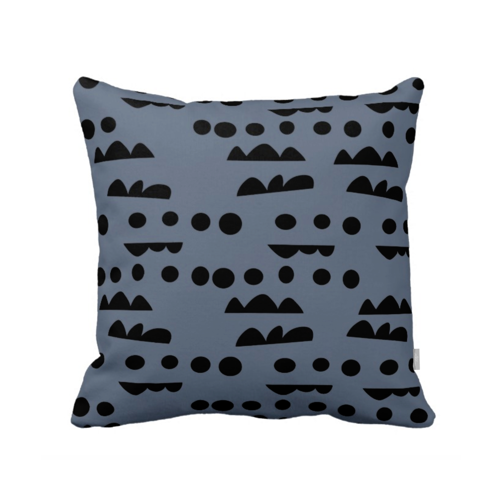 ISLET horizon pillow, blue
