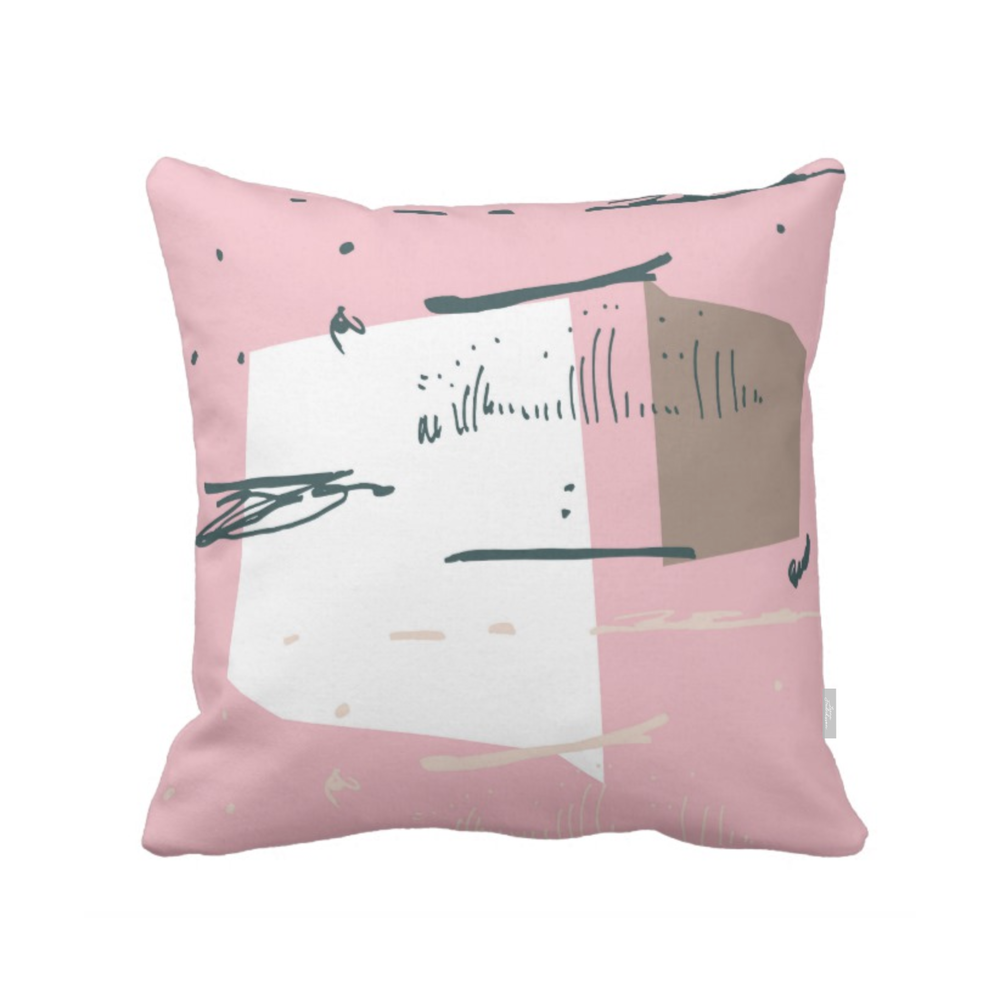 ISLET pond,  pillow, pink