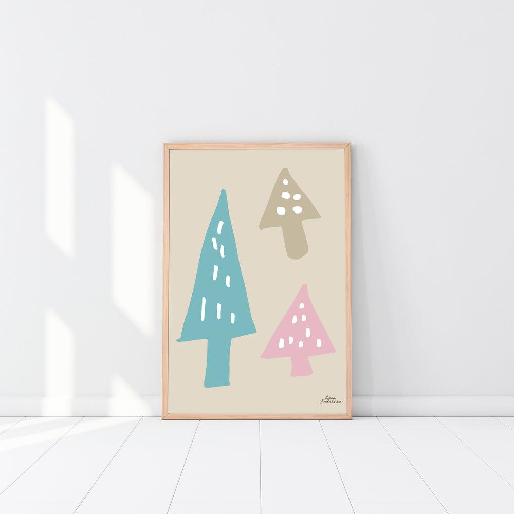 ISLET trees,  poster, beige