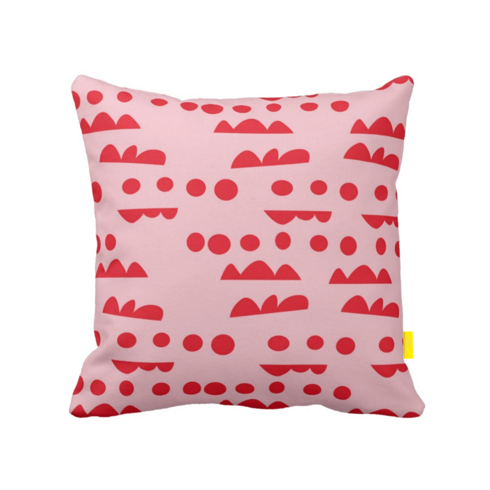 ISLET horizon,  pillow, red