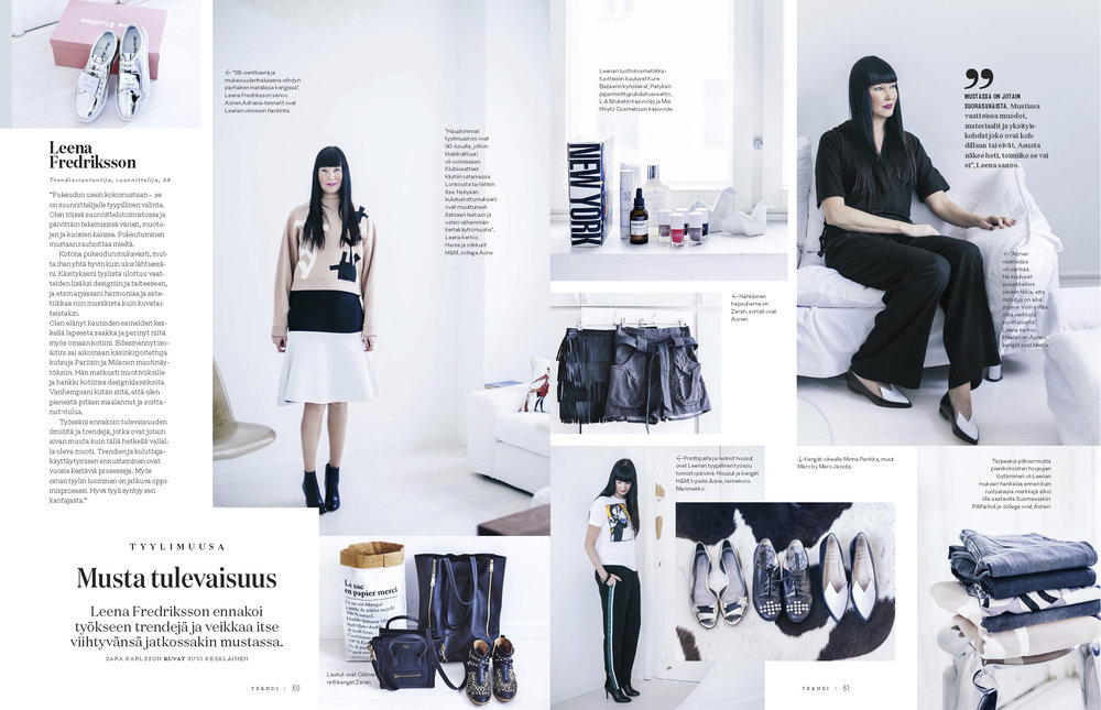 TRENDI Magazine, 04 / 2015 Photos: Suvi Kesäläinen & text: Sara Karlsson