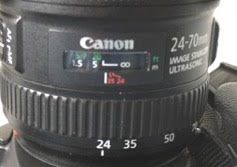 Infinity focus mark on Canon lens