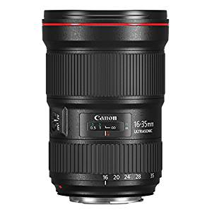 Considered the best lens for Landscapes. The Canon 16-35 f/2.8
