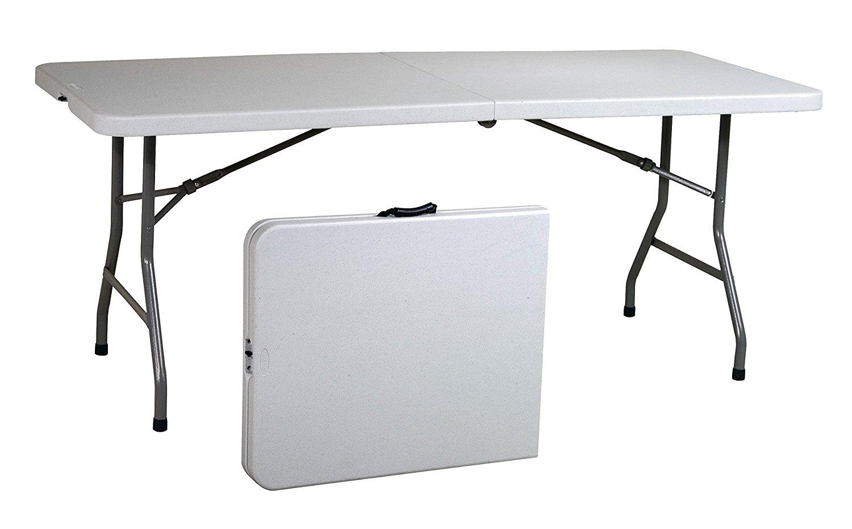 White Table, 6 Feet, Center Folding