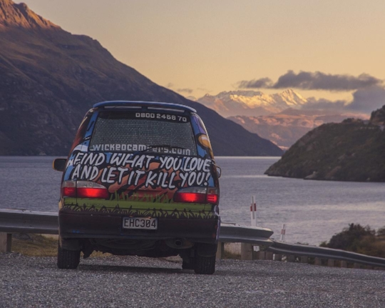 My 'mobile studio' in New Zealand, May 2017