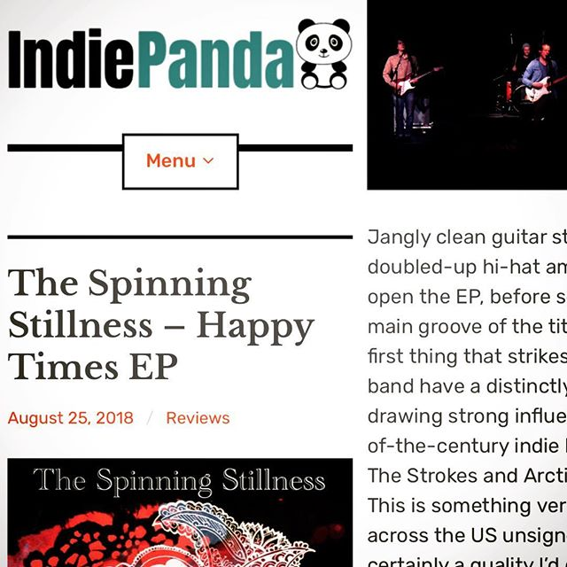 Great review of our EP! https://indiepanda.net/2018/08/25/the-spinning-stillness-happy-times-ep/ . . . . #indiepanda #review #thespinningstillness #rock #indie #music #indiemusic #indierock #rocknroll #guitar #electricguitar #guitarist #amp #bass #bassguitar #drums #drumset #cymbals #distortion #vocals #ep #thestrokes #thekillers #arcticmonkeys #kingsofleon #postpunkrevival #orlando #florida  #orlandoflorida #orlandofl