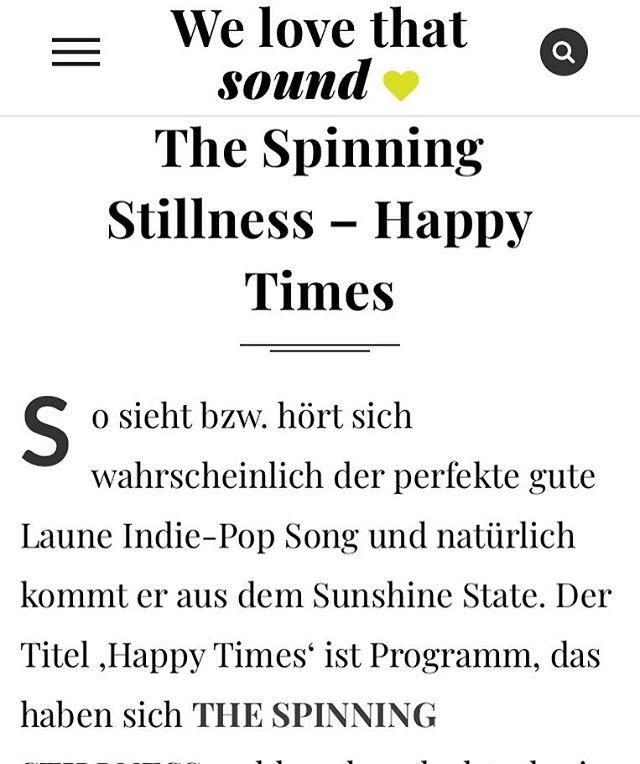 German review! https://www.welovethat.de/2018/the-spinning-stillness-happy-times/ . . . . . #welovethat #pop #thespinningstillness #rock #indie #music #indiemusic #indierock #rocknroll #guitar #electricguitar #guitarist #amp #bass #bassguitar #drums #drumset #cymbals #distortion #vocals #voice #thestrokes #thekillers #arcticmonkeys #kingsofleon #postpunkrevival #orlando #florida  #orlandoflorida #orlandofl