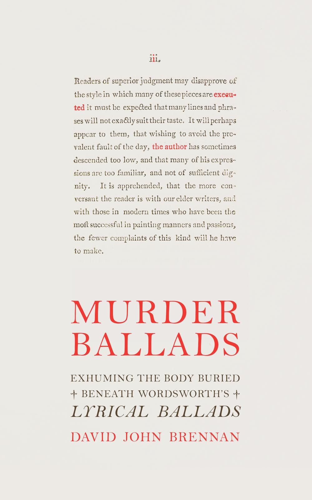 Murder Ballads. [David John Brennan.] 2016.