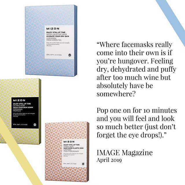 "Love this article from @image.ie this month - ""Why the sudden mania around face masking?"" Below are the highlights (the effect on an hangover face is real - can verify this from experience 😂) - "" A sheet mask is your best friend, and if you're a bit stuck these are a great a quick fix. For flights, a hydrating mask is fantastic as they give your skin a boost and aren't messy to use when you're at 10,000 feet. They're also great before a night out if you want a quick pick me up before getting ready. Where they really come into their own is if you're hungover. Feeling dry, dehydrated and puffy after too much wine but absolutely have be somewhere? Pop one on for 10 minutes and you will feel and look so much better (just don't forget the eye drops!). ""  We've some special offers on sheet masks at the moment including 10 masks for €25 - usually €40! Head to Damsel.ie to check them out  #sheetmask #facemasks #kbeauty #specialoffersireland #sheetmasks #kbeauty #sheetmaskkorea #skincaretips #hangover #skincareroutine #skincareproducts #mizon #masksheet"