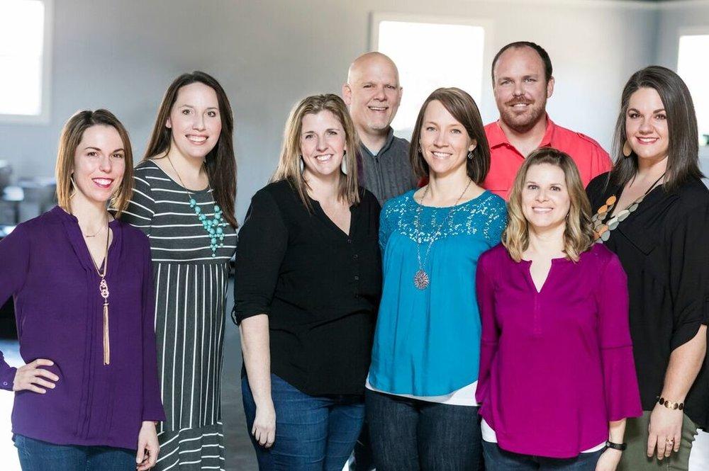 Gathering Hope Board: Michelle Parker, Jennifer Hoover, Carol Vantine, Brad Vantine, Amy Couser, Justin Lauderdale, Kim Brown, Peyton Lauderdale, and Laura LaRiviere (not pictured)