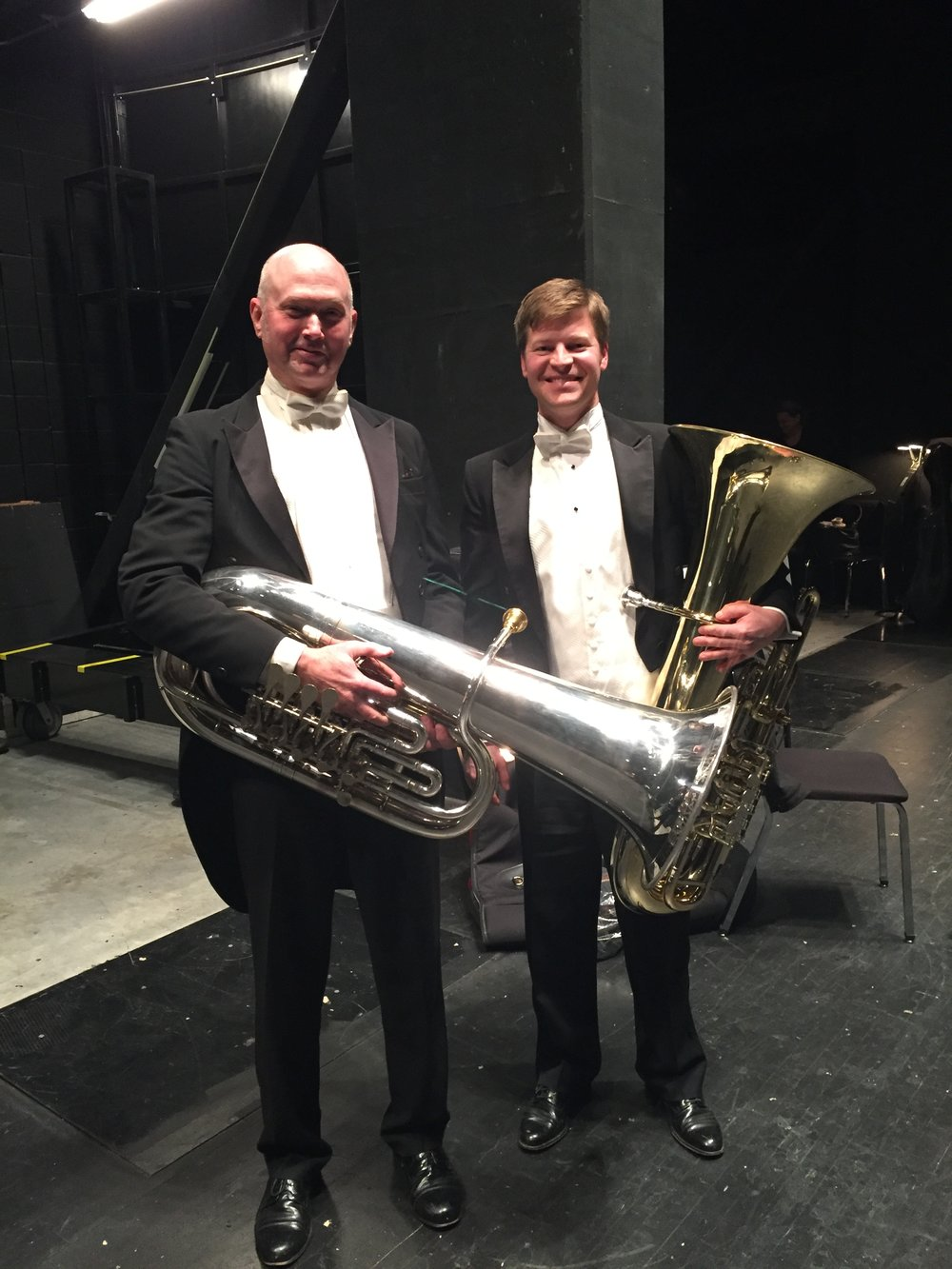 Ted Cox, Principal Tuba Oklahoma City Philharmonic, and I after Symphonie Fantastique.