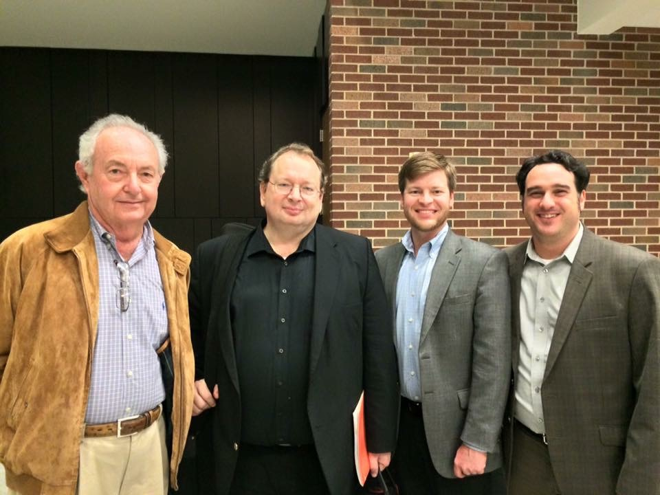 Post recital pic with Jimmy Clark, John Allen, me, and Jeff Baker at TAMC.