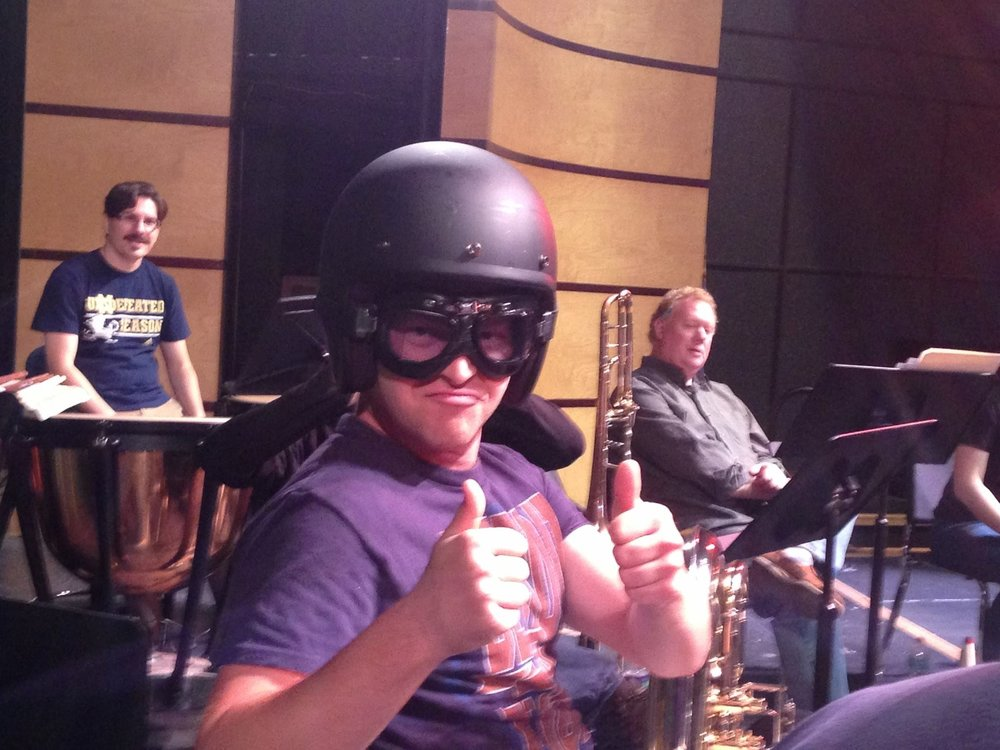 Safety first in Frontier Brass Band.