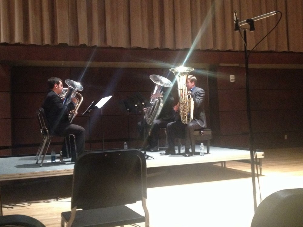 Founders Quartet recital at OCU with Jamie Lipton, Danny Chapa, and Steve Kunzer.