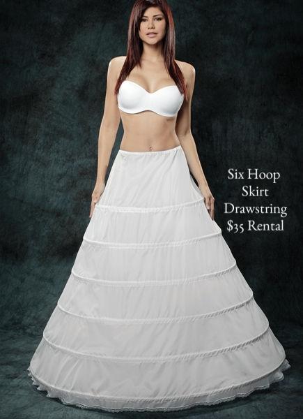 Three Hoop Skirt Drawstring $35 Rental