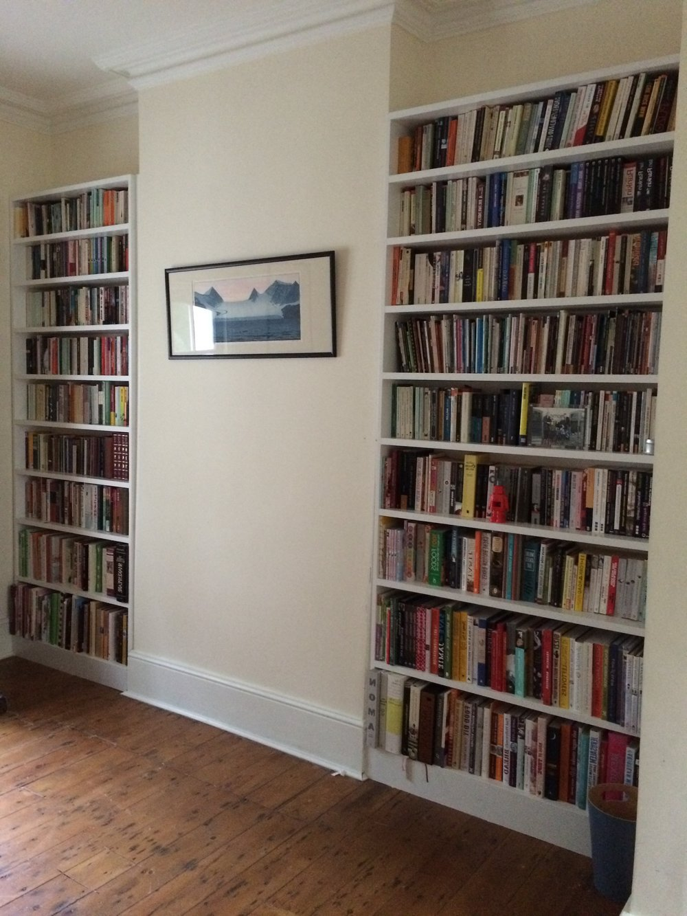bookcases in hand-painted mdf