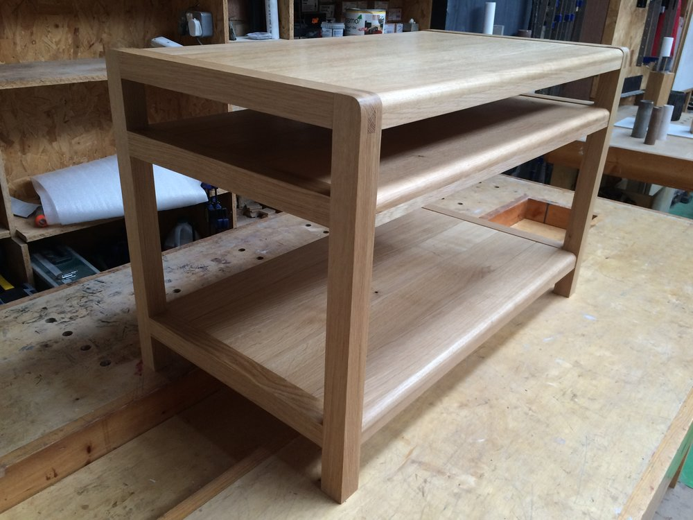 media table in solid oak
