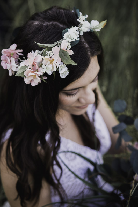 You can thank the beautiful Stacey Long, Floral Designer &owner of  JoJosJoy's Floral  - for this GORGEOUS floral crown & boho inspired bouquet.