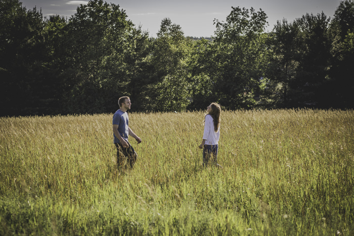 Tricia grew up on her grandparents 60 acre home her grandfather built himself,in Harbor Springs;where her & Zack will be getting married next month.I couldn't wait to capture their adventure session in this beautiful, nostalgic, open field.