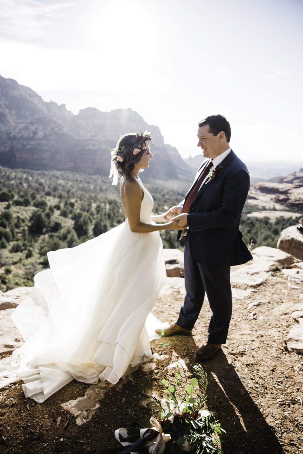 Cool news... - Christine & Paul's elopement at Merry-Go-Round-Rock in Sedona, AZ that allen and I captured, caught the attention of Lovely Bride - one of the top wedding gown boutiques in the country. We're so honored they wanted to publish and feature this intimate, adventurous elopement we captured and help coordinate. But how could they not? Their bride in one of the most breathtaking locations in the Southwest. More coming soon to our blog - but in the meantime, check out more on this adventurous love story below!