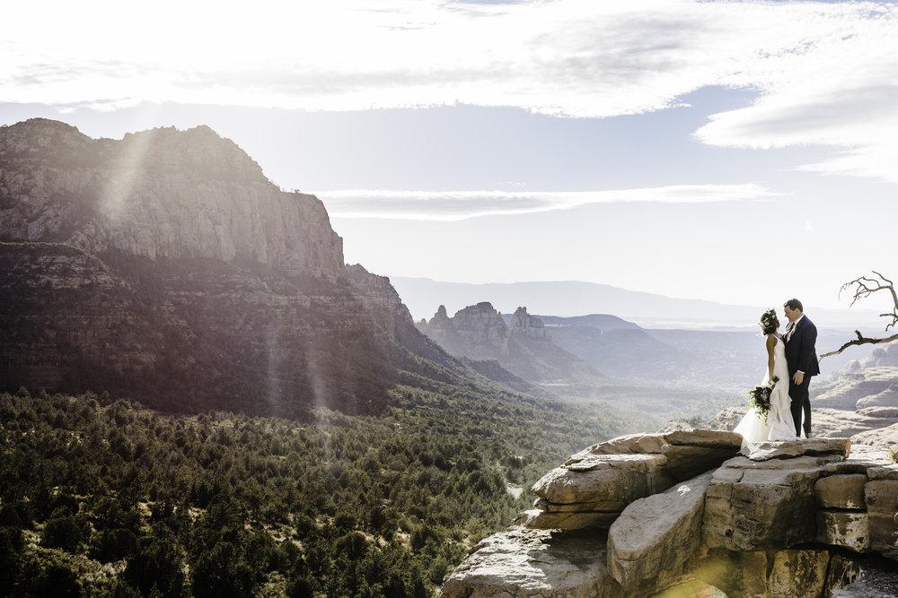 merry-go-round-rock elopement - Sedona Arizona - Coconino National Forest