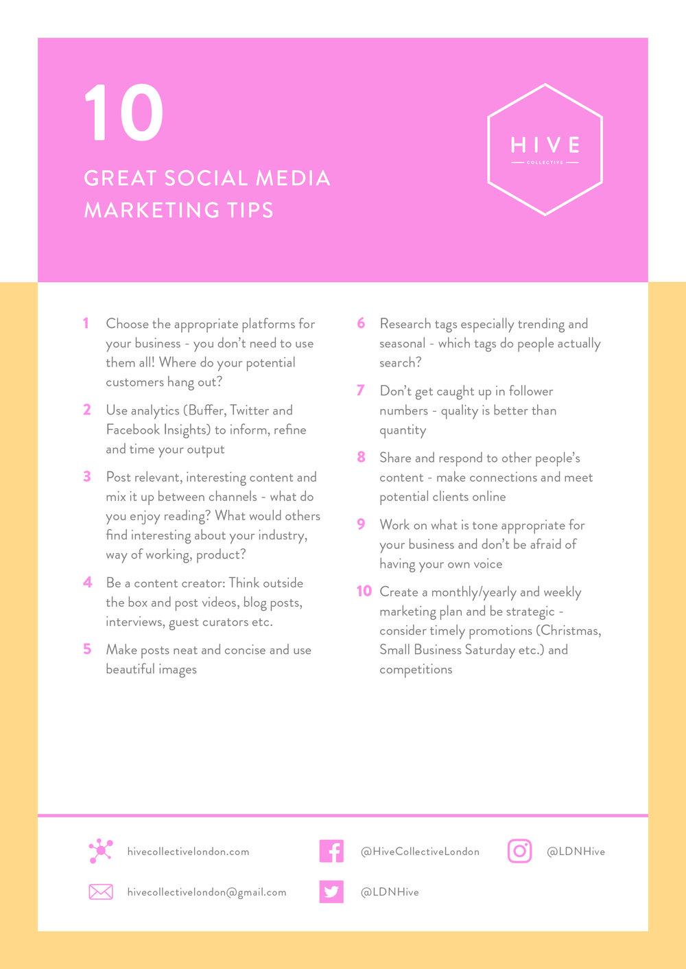 Social Media Marketing Tips - From Emma Hammond of Good Egg Soical