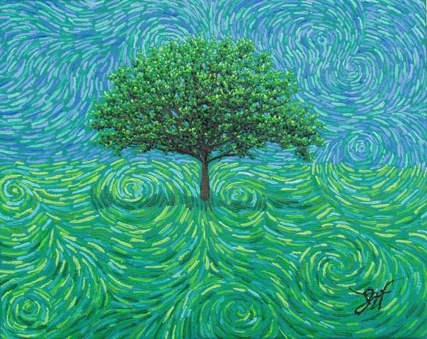 DeGRAPHI: BLUE GREEN SWIRL