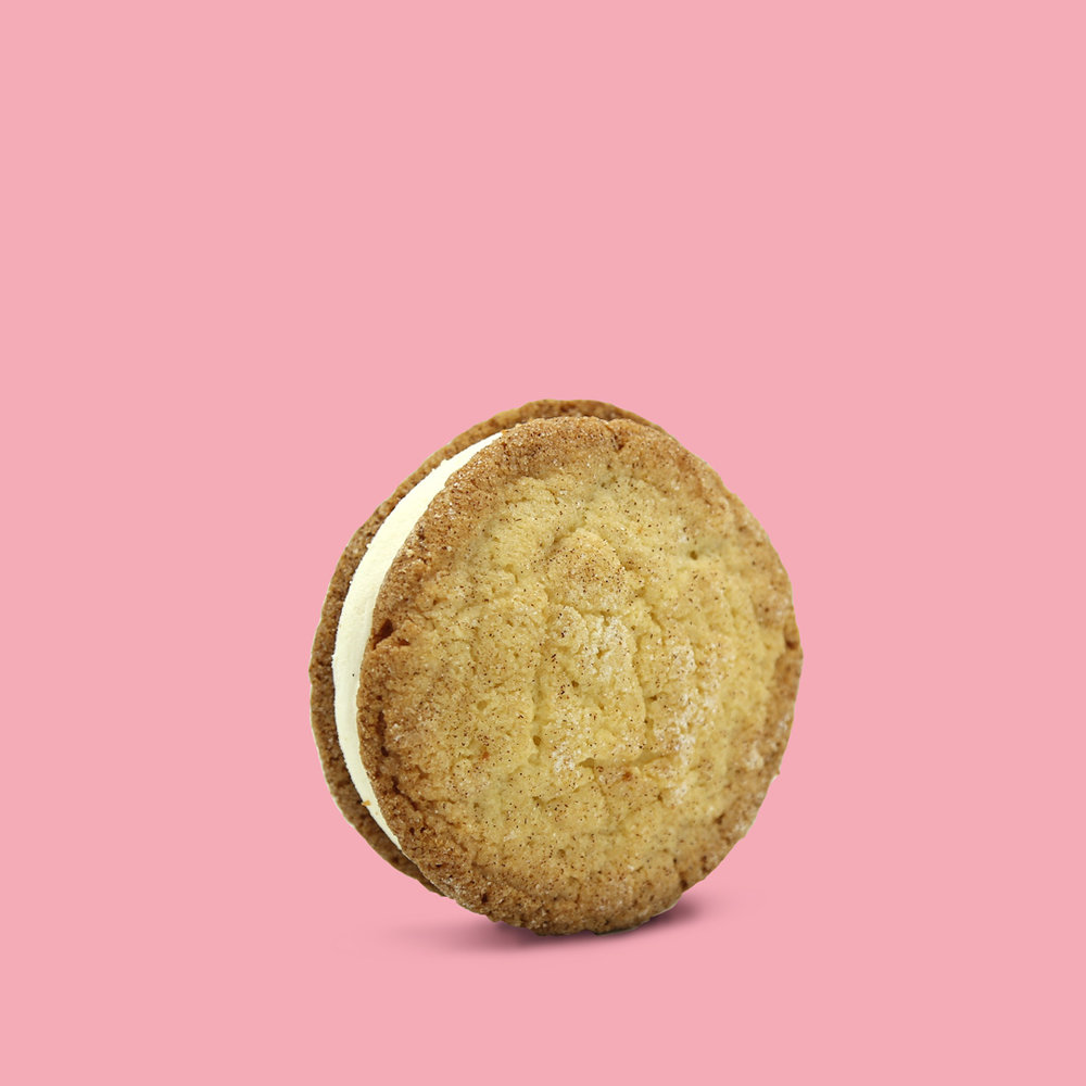 SNICKERDOODLE SANDO   Brown butter ice cream • Snickerdoodle cookie