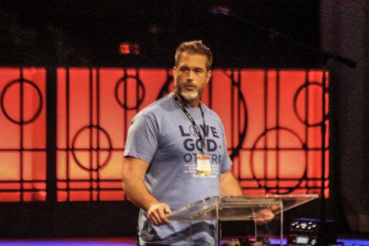 Speaking at the Celebrate Recovery Summit in Nashville. -