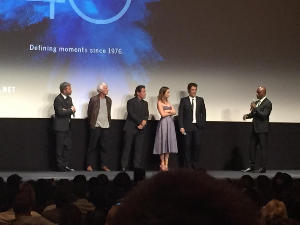 "The cast of ""Sicario"" at its Toronto premiere."