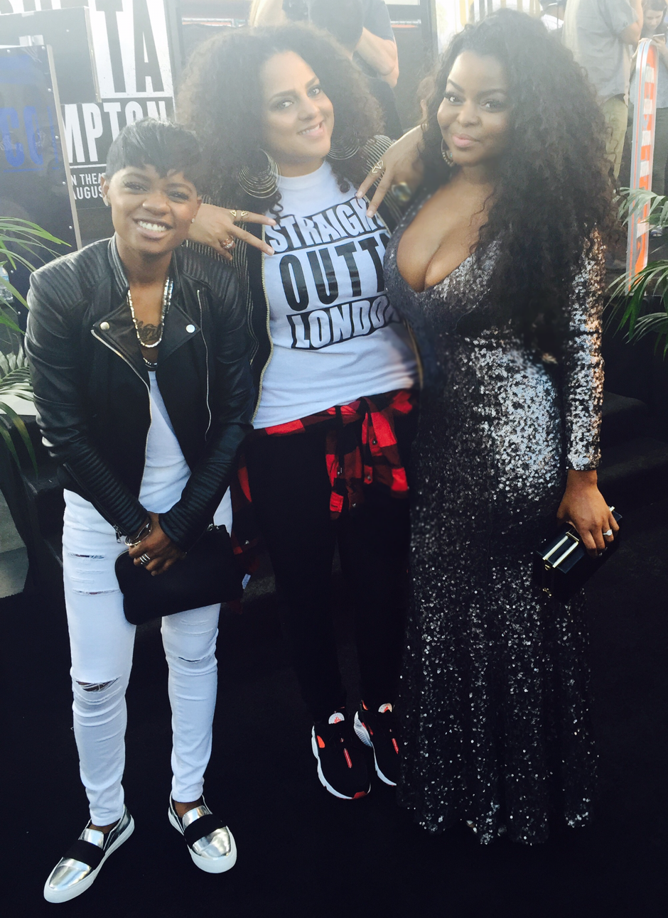 "Asia next to Masha at the ""Straight Outta Compton"" premiere."